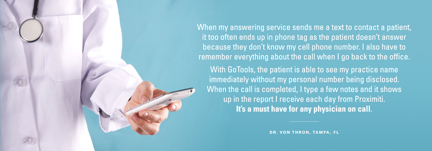 Testimonial from Dr. Von Thron, Tampa FL.  It's a must have for any physician on call.